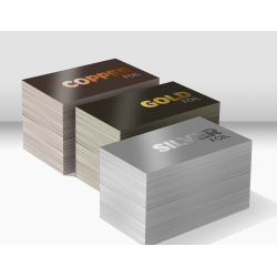 Foil Squared Corner Gold or Silver - Full Color - Business Cards