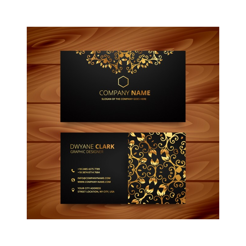 Gold or Silver Foil - Full Color - Square Corner Business Cards