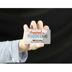 Frosted Plastic 20 pt Business Cards w/Round Corners