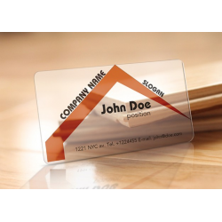 Clear Plastic 20 pt Business Cards w/Round Corners