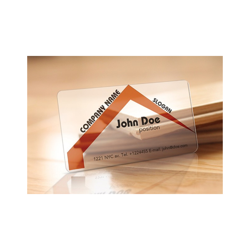 Plastic 20 pt Business Cards w/Round Corners