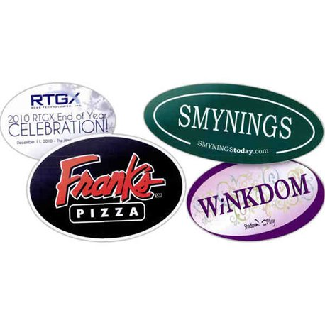 3.25'' X 7.5'' Oval Stickers Labels